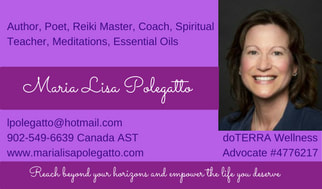 Author, Poet, Reiki Master, Coach, Spiritual Teacher, Meditations, doTERRA Essential Oils